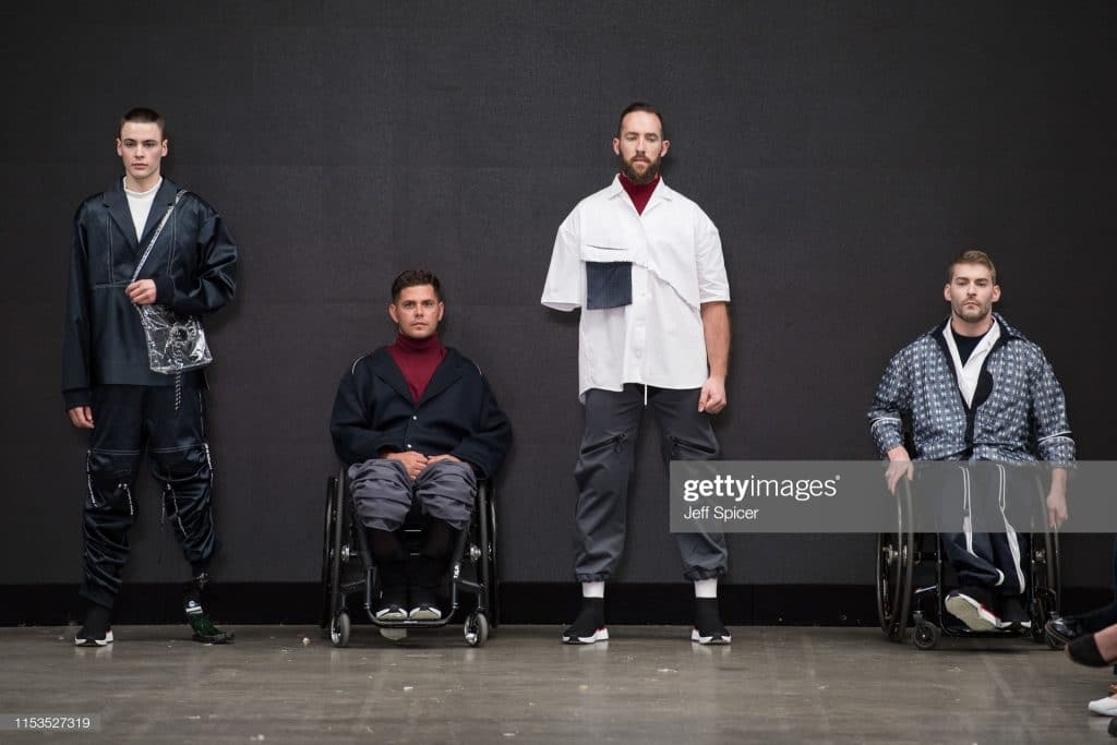 LONDON, ENGLAND - JUNE 03: Models on the runway during the Nottingham Trent University show at Graduate Fashion Week at The Truman Brewery on June 03, 2019 in London, England. (Photo by Jeff Spicer/Getty Images)